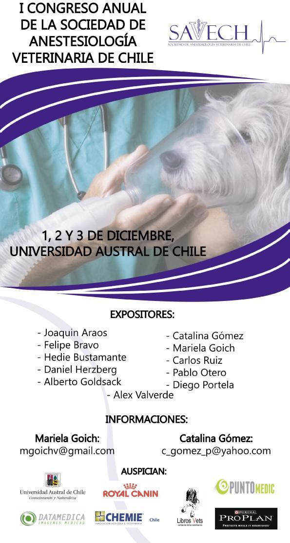 Congreso 2016 – Sociedad de Anestesiología Veterinaria de Chile